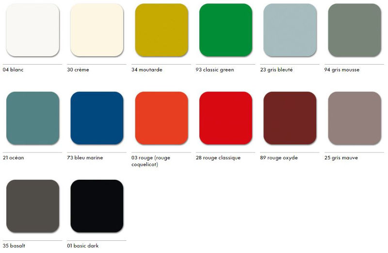 new eames vitra colors