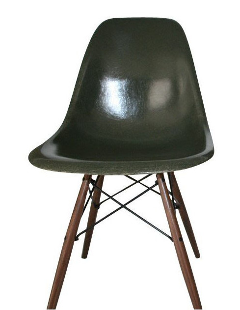 chaise-dsw-forest-green-eames-années-60