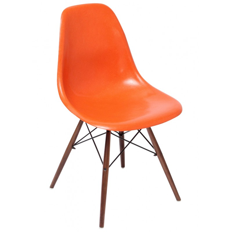 chaise-dsw-orange-charles-ray-eames-années-70