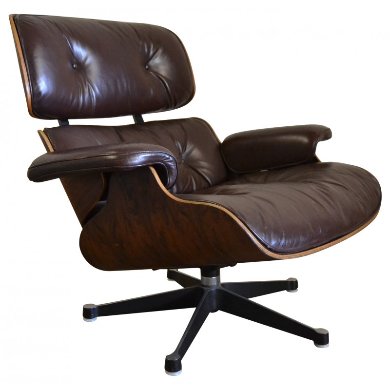 fauteuil-lounge-chair-chocolat-charles-et-ray-eames-années-60