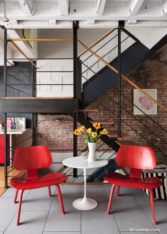 Chaise-Eames-Rouge