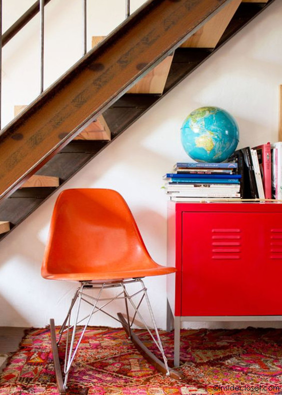 Chaise-Vintage-Eames-Rouge