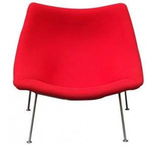 Fauteuil-Oyster-rouge-Pierre-PAULIN