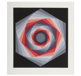 Serigraphie-authentique-Victor-VASARELY
