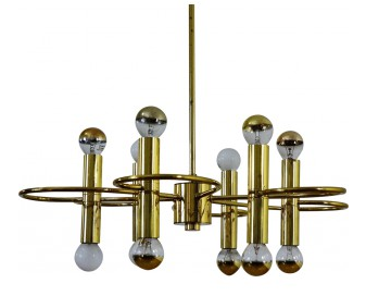 Suspension-vintage-en-metal-et-laiton