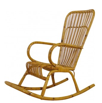 Rocking chair vintage en bambou - 1950