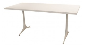 Table-haute-Herman-Miller-en-aluminium-George-NELSON