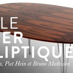 La table Super-Elliptique par Arne Jacobsen, Piet Hein et Bruno Mathsson