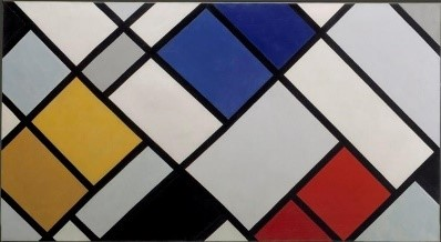 Huile sur toile de Theo van Doesburg, Contra-Composition of Dissonances, XVI, 1925.
