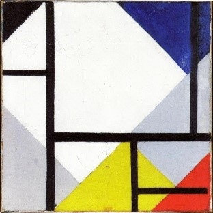 Huile sur toile de Theo van Doesburg, Simultaneous Counter Composition, 1929.